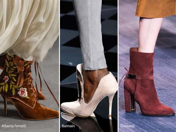 модная замшевая обувь осень зима 2016 - 2017, фото