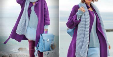Фиолетовое пальто – модно, стильно, оригинально!