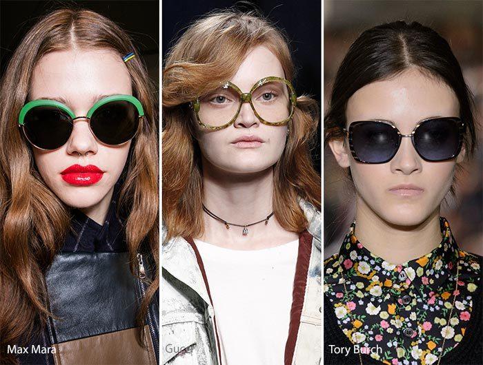 модные очки - крылья бабочки осень - зима 2016-2017, фото