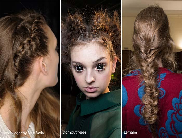 Фото модные женские прически косы
