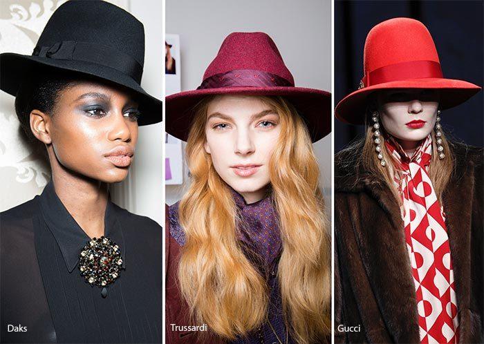 модные шляпы - федора осень - зима 2016 - 2017, фото