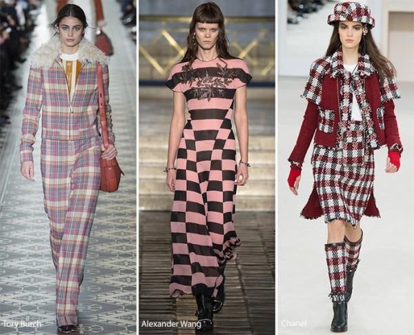 Модные принты осень - зима 2016 - 2017, клетка, фото