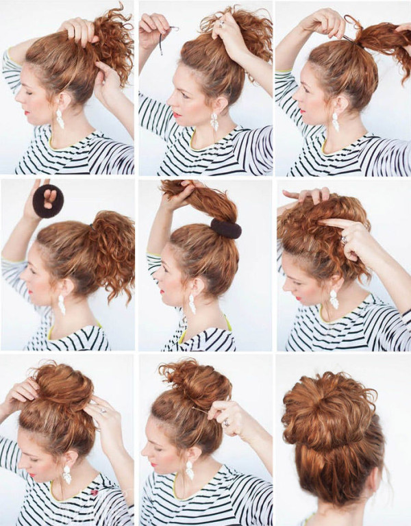 Как на длинных волосах сделать пучок