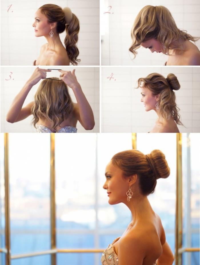 Пучки на волосах своими руками