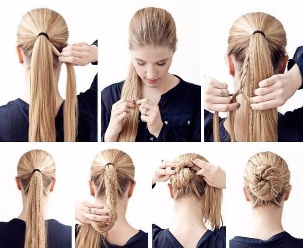 Как сделать косичку самой себе на густые волосы