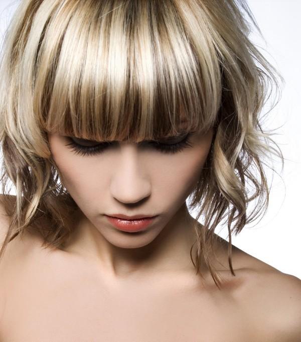 колорирование светлых волос, фото
