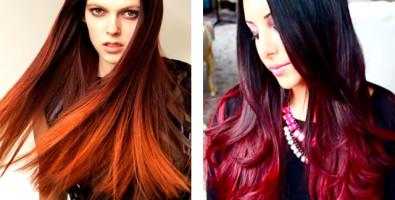 Модное колорирование темных и светлых волос