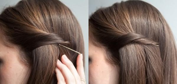 Как заколкой заколоть волосы