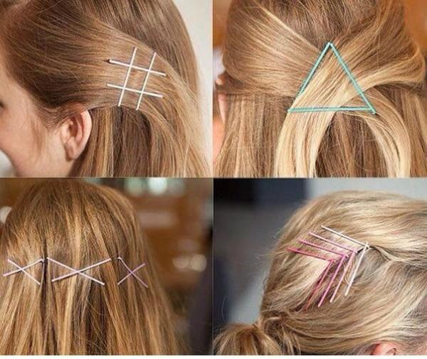 Как заколоть волосы невидимками