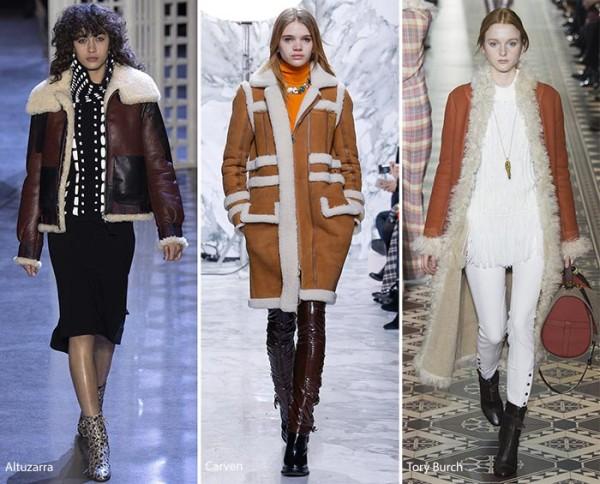 модные дубленки осень - зима 2016 - 2017, фото