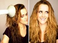 Укладка волос диффузором на средние и длинные волосы