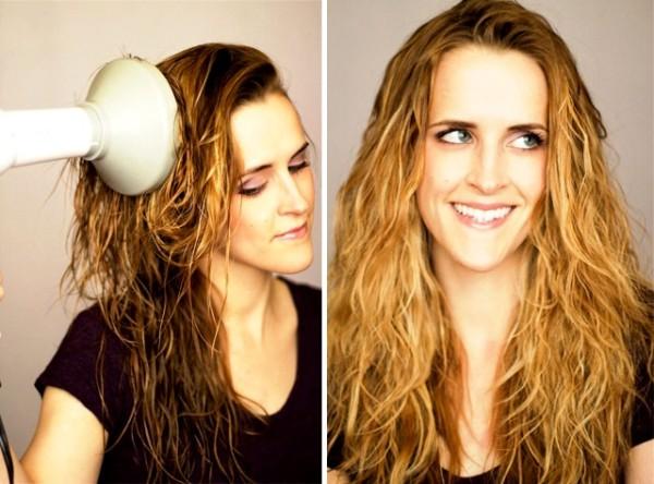 Укладка волос диффузором, фото