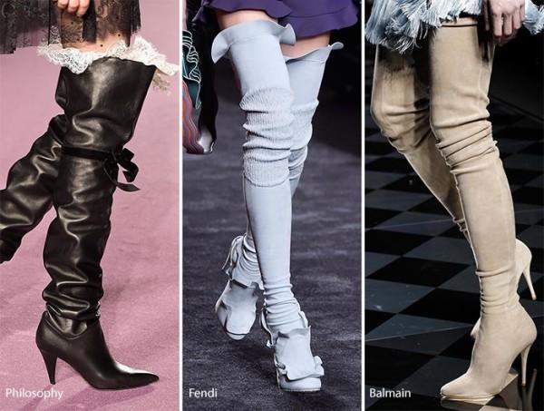 модные ботфорты осень зима 2016 - 2017, фото