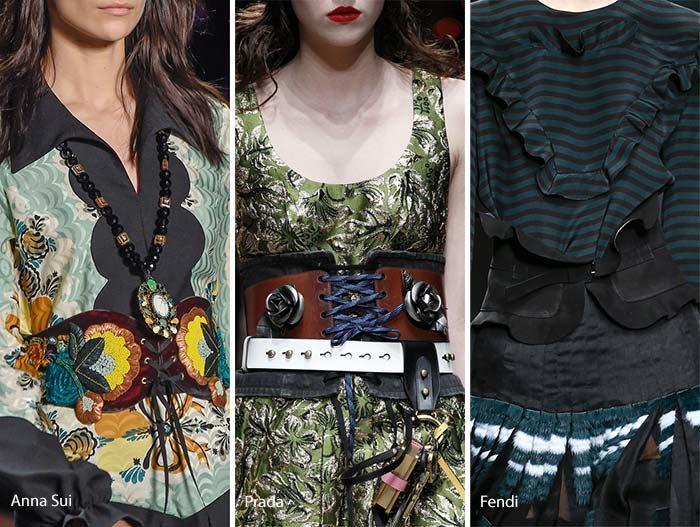 модные пояса - корсеты осень - зима 2016 - 2017, фото