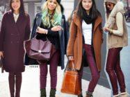 С чем носить бордовые брюки? Модные сочетания