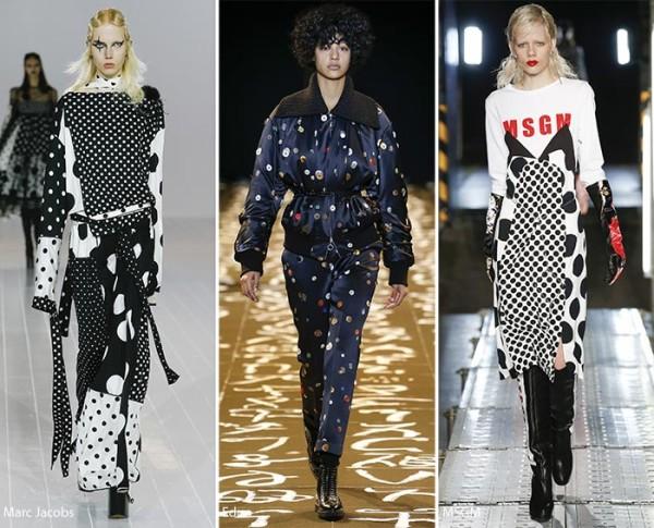 Модные принты осень - зима 2016 - 2017, горошек, фото
