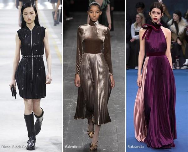 модные тенденции осень - зима 2016 - 2017, плиссировка, , фото