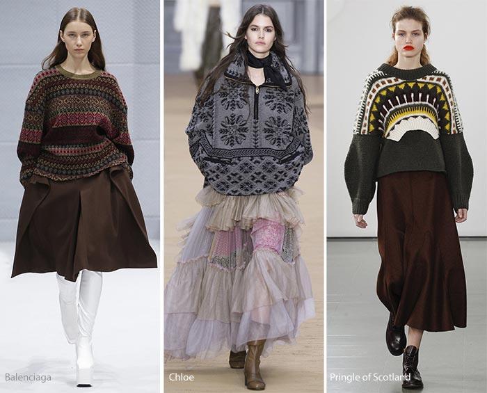 Модная одежда осень зима 2017 женская фото
