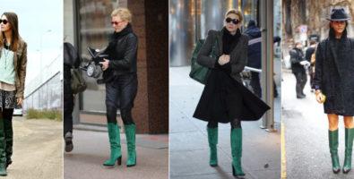 В зеленой обуви легко шагая по планете! С чем её носить?