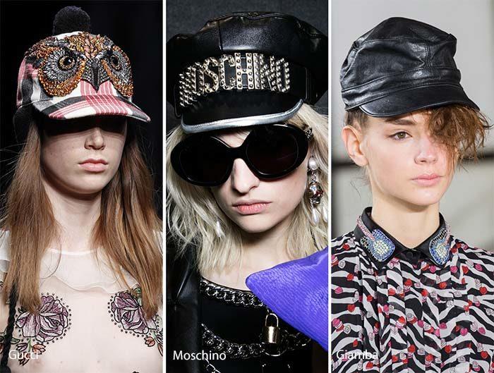 модные кепки и бесболки осень - зима 2016 - 2017, фото