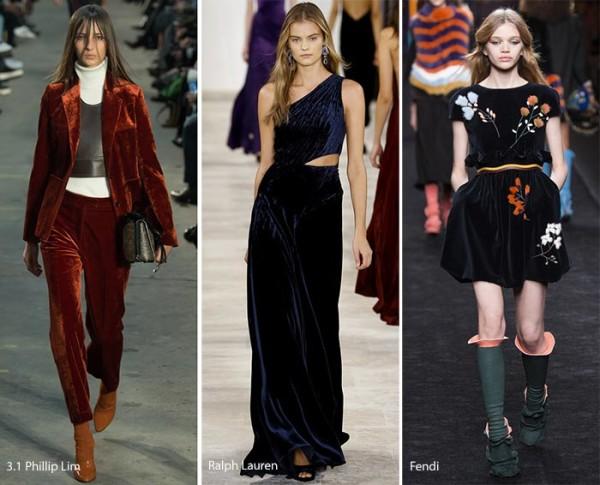 модные тенденции осень - зима 2016 - 2017, бархат, фото