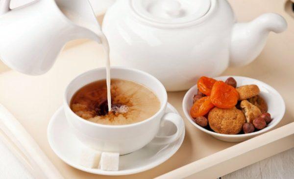 пила зеленый чай с молоком похудела