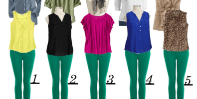 Искушение цветом. С чем носить зеленые брюки?