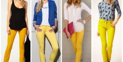 Сверхмодным может быть удобное. С чем носить желтые джинсы и брюки?