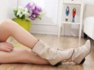 Бежевый цвет зимней обуви. С чем носить бежевые сапоги, ботильоны, ботинки, ботфорты?