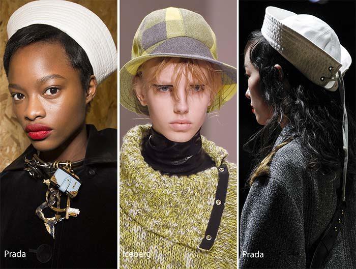 модные шляпы с полями уборы осень - зима 2016 - 2017, фото