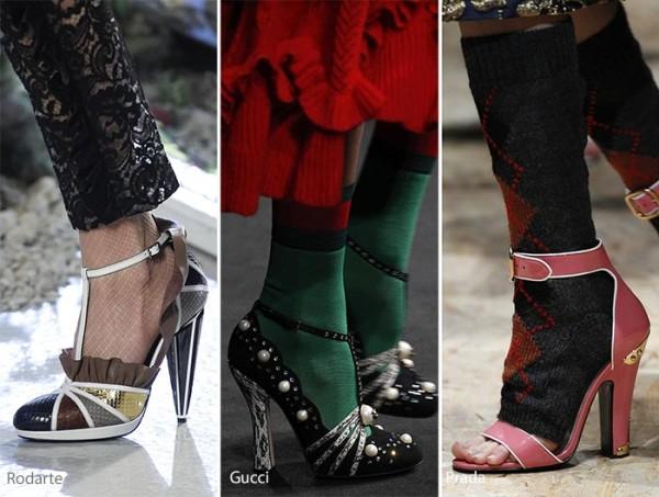 модные туфли осень зима 2016 - 2017, фото