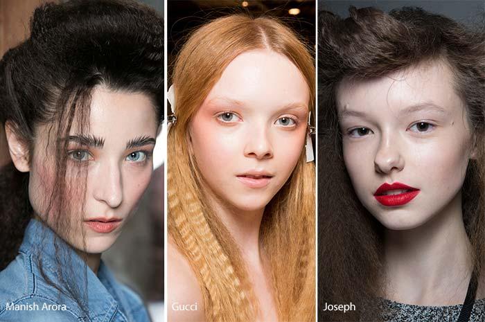 модные волосы с гофре осень - зима 2016 - 2017, фото