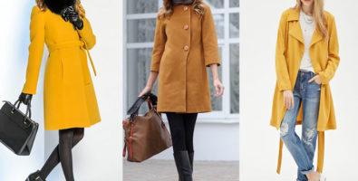 Пальто горчичного цвета: с чем носить? Какие цвета подходят, а какие нет
