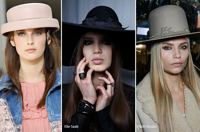 модные шляпы с полями осень - зима 2016 - 2017, фото