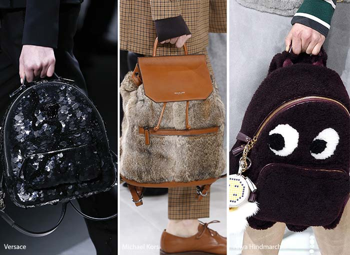 модные рюкзаки осень - зима 2016 - 2017, фото