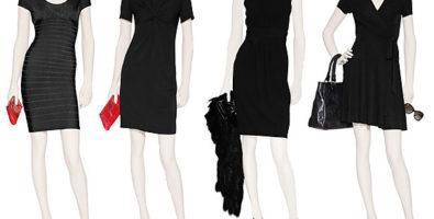 С чем носят платья черного цвета: подбираем колготки и туфли