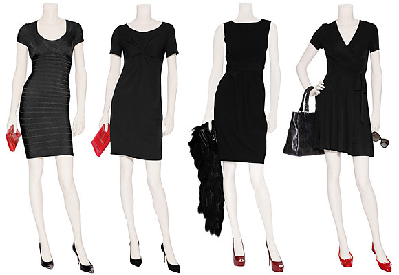 f513af98744 С чем носят платья черного цвета  Колготки под черное платье. Туфли ...