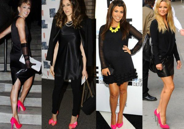 Маленькое черное платье носят только с черными колготками