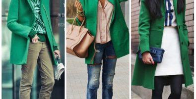Зеленая одежда среди зимы вернуть может весну! С чем её носить?