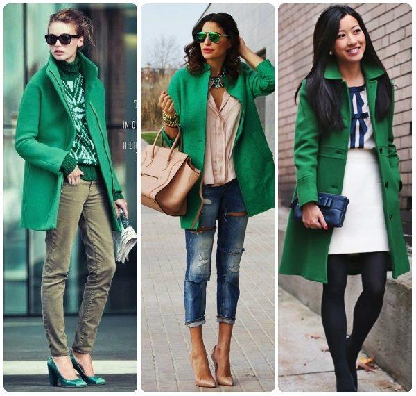зеленая куртка с чем носить