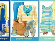 Таблица сочетания цветов в одежде: зеленый, синий, красный и другие