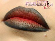 Драматичный макияж губ омбре на Хеллоуин