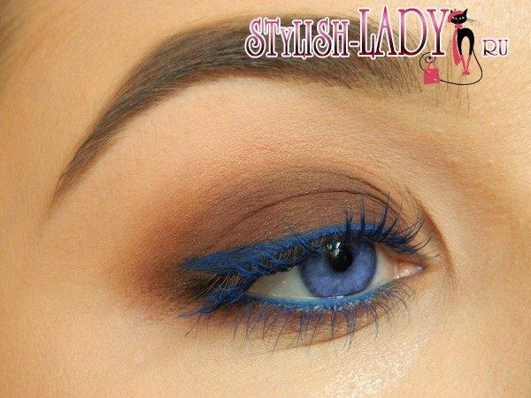 синие стрелки для глаз, фото