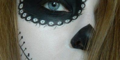 Как сделать макияж на Хеллоуин в стиле Санта Муэрте — мастер-класс