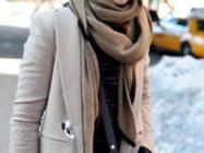 Как носить палантин с пальто? Идеальное сочетание