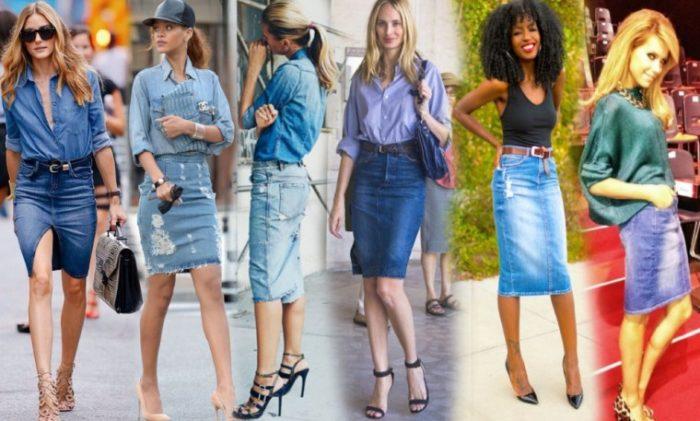 Джинсовые юбки 90 годов