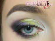 Сочный весенний макияж с оливково — зелеными тенями для смуглой кожи
