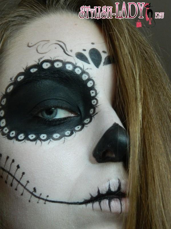 макияж Санта Муэрте, фото