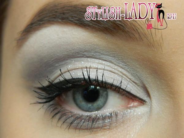 макияж глаз в серых тонах, фото
