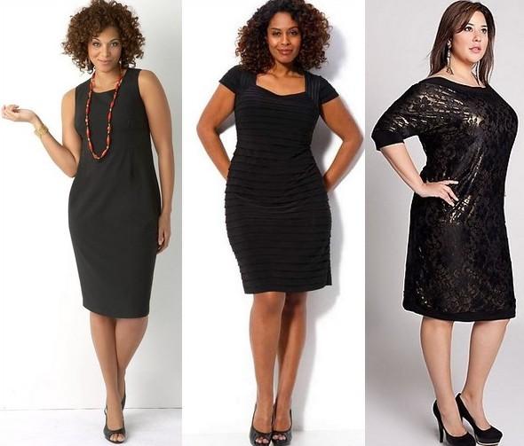 Платье черное футляр для полных женщин фото